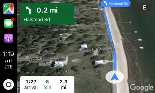 google maps carplay 6