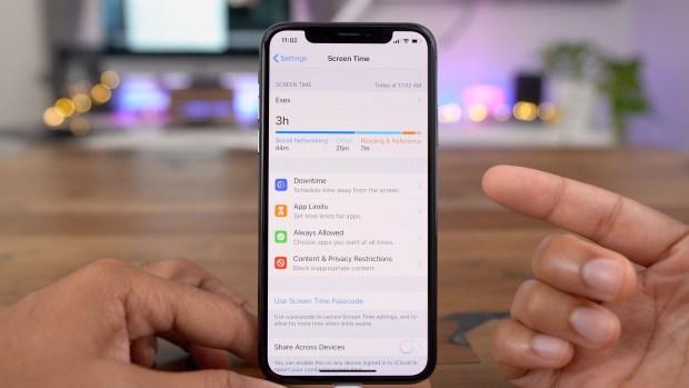 screen time iOS 12