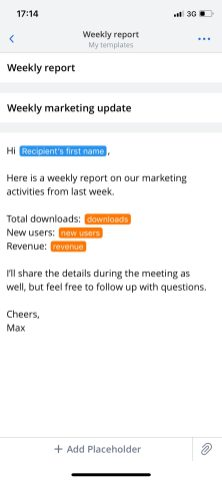 email templates for iOS and Mac