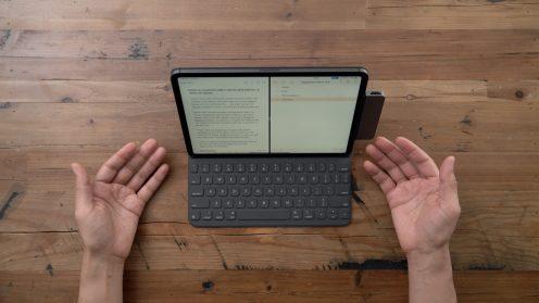 HyperDrive USB-C Hub 2018 MacBook Pro Smart Keyboard Folio Open