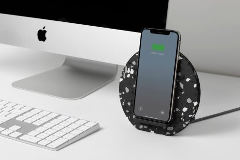 terrazzo iPhone case wireless charger