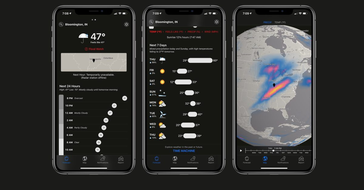 Apple-owned Dark Sky app updated with Apple Watch improvements and more - 9to5Mac