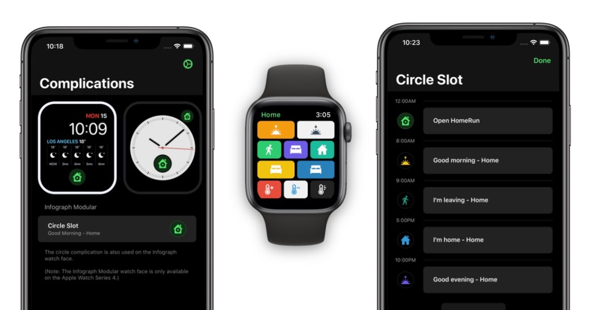 HomeRun for Apple Watch lets you make HomeKit complications that change based on time of day - 9to5Mac