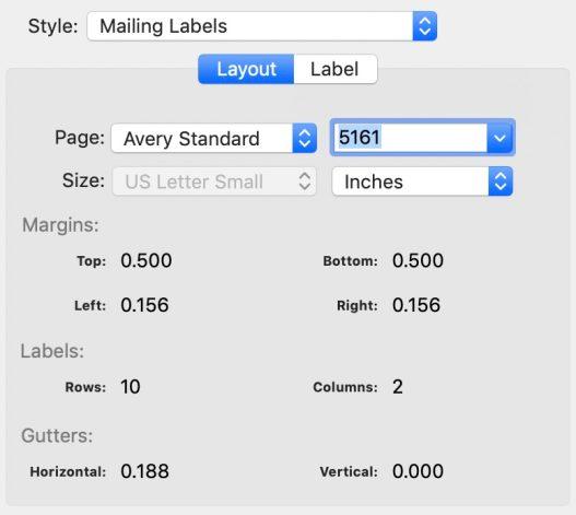 print-contacts-mac settings