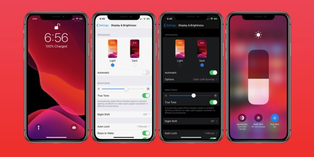 Image result for iOS 13 dark mode settings