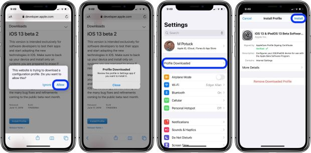 update iOS 13 beta 2 walkthrough 2