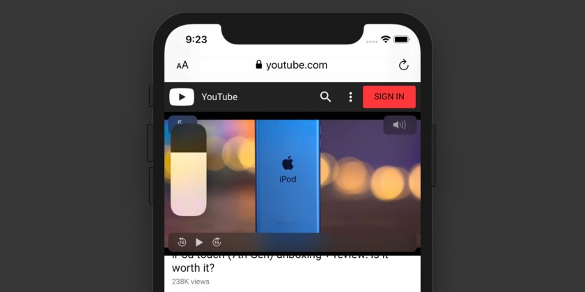 Image result for SLIDE TO ADJUST AUDIO IOS 13