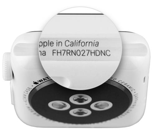 find Apple Watch serial number walkthrough