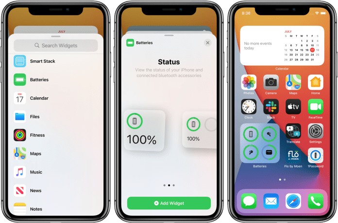 how to show iPhone battery percentage iOS 14 battery widget