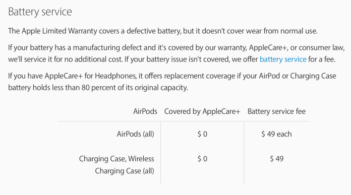 AirPods Pro repair replacement battery service