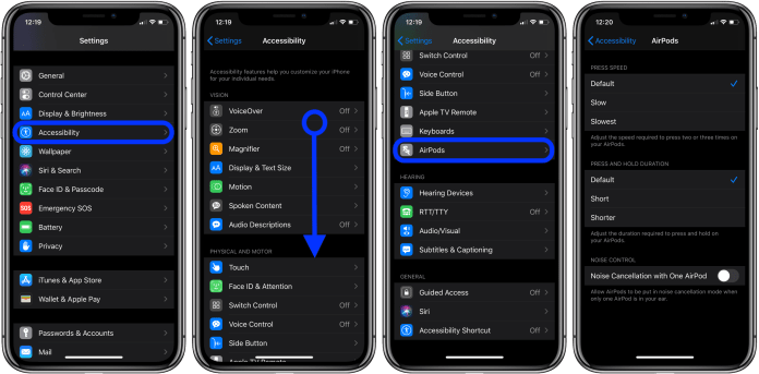 How to customize AirPods Pro controls Force Sensor 3