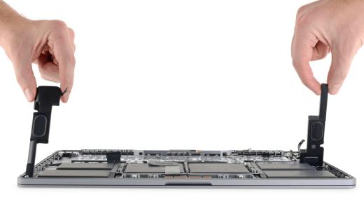 16-inch MacBook Pro iFixit teardown speakers