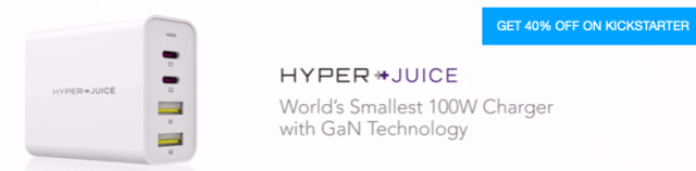 HyperJuice World's Smallest 100W Charger