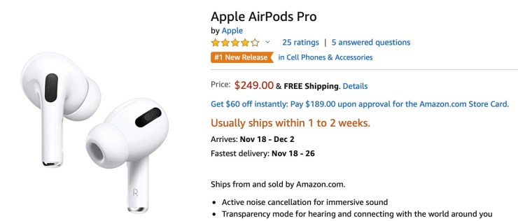 How to check AirPods Pro stock Amazon