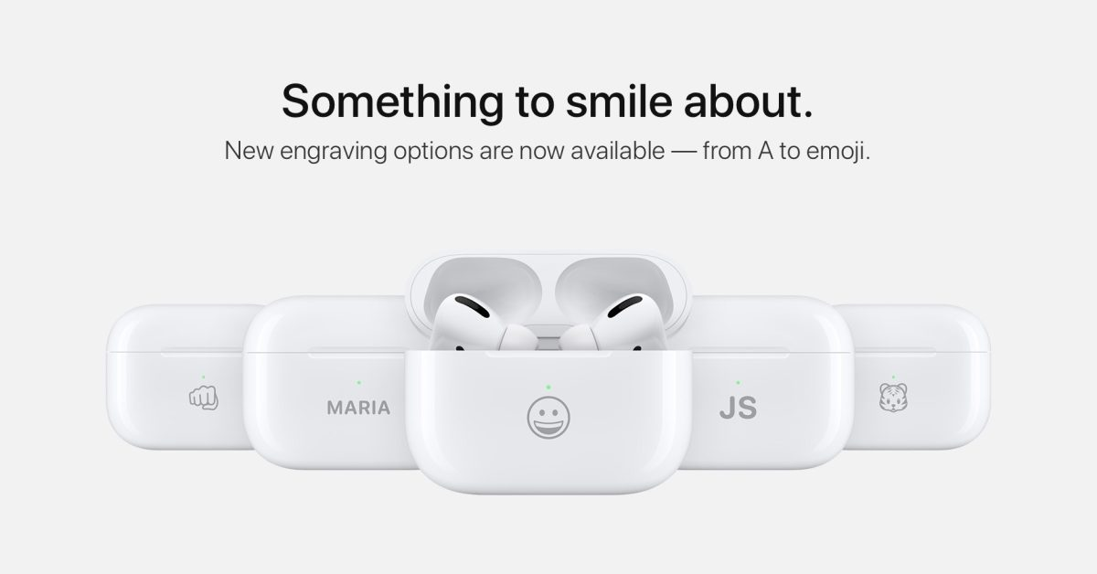 AirPods can now be engraved with select emoji as Apple refreshes exclusive font - 9to5Mac