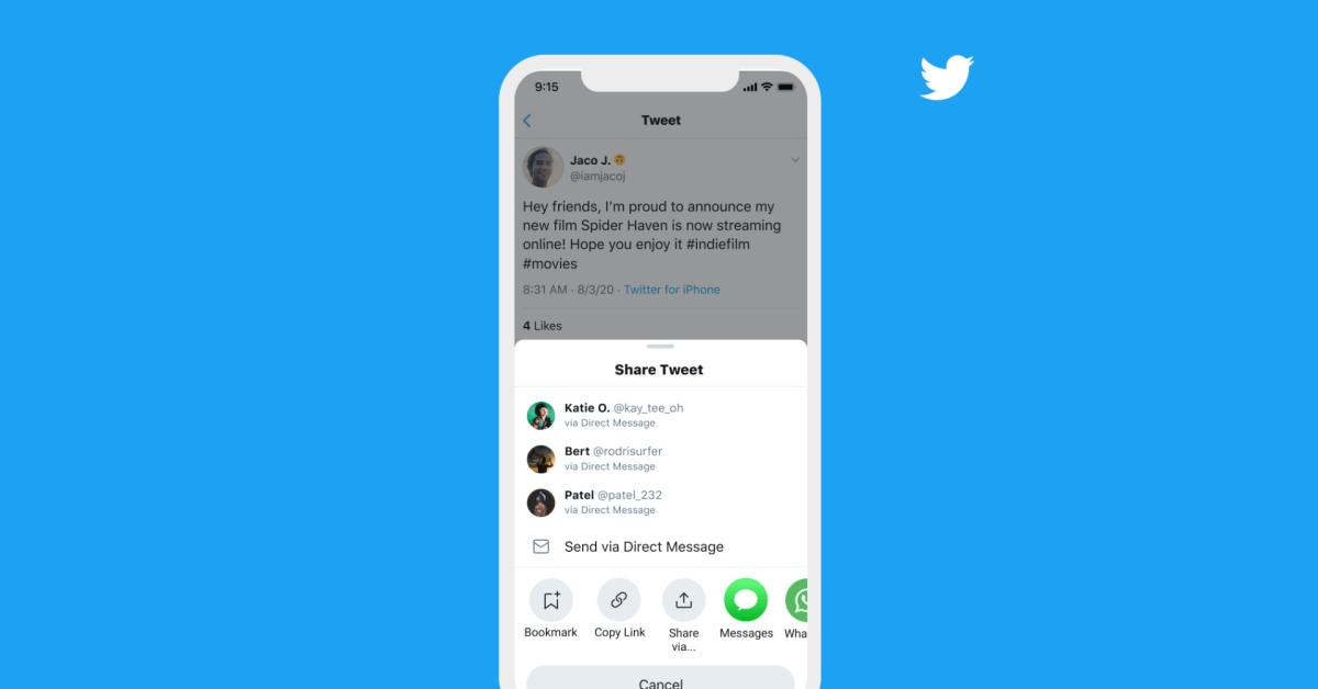 Twitter app update for iOS brings new Share Tweet menu with DM suggestions [U] - 9to5Mac