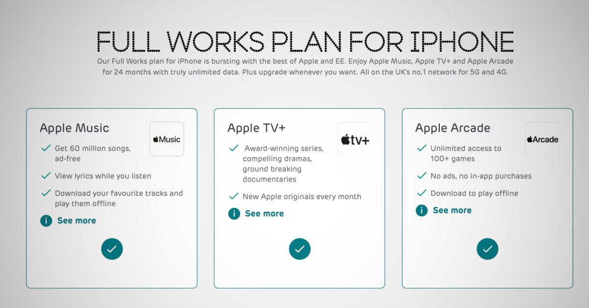 UK carrier EE launches 'first of its kind' iPhone cell plan bundling Apple Music, TV+ and Arcade - 9to5Mac