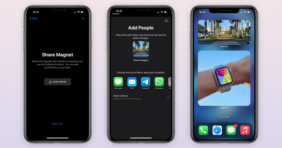 Magnets app lets you create collaborative photo widgets with your friends on iOS 14 - 9to5Mac