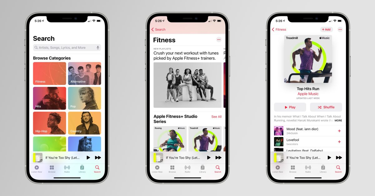 Apple promotes Fitness+ and Apple Music integration with 'Studio Series' playlists - 9to5Mac