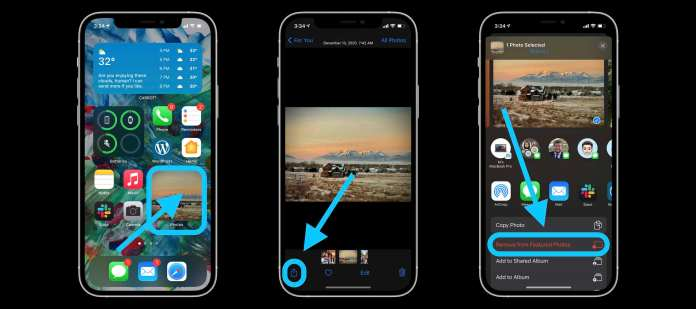 How to hide Photos widget pics walkthrough 2