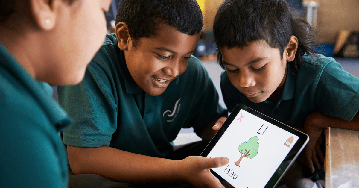 photo of Apple profiles how New Zealand students prototyped an iPad app to learn their native language image