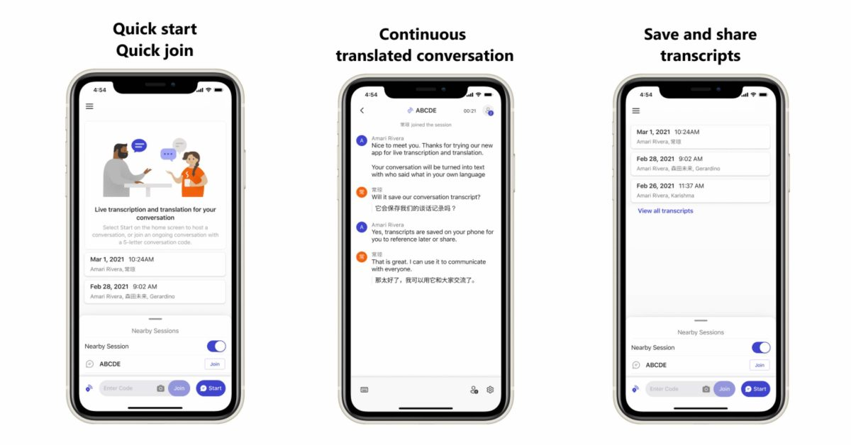 Microsoft's new 'Group Transcribe' iPhone app offers free real-time transcription and translation - 9to5Mac