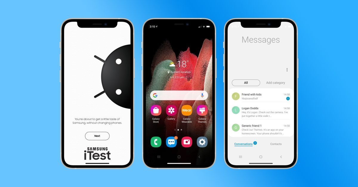 photo of Samsung launches 'iTest,' a new web app for turning your iPhone into a Galaxy device image