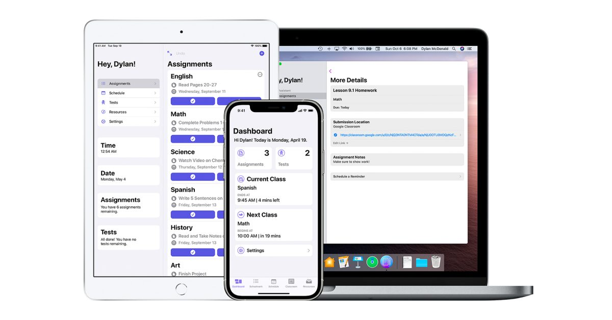 'School Assistant' app helps students manage their school tasks - 9to5Mac