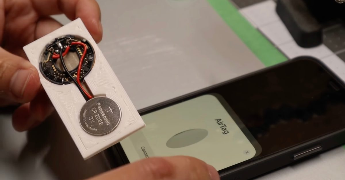 Video: User rebuilds AirTag as a thinner card that fits into wallets - 9to5Mac