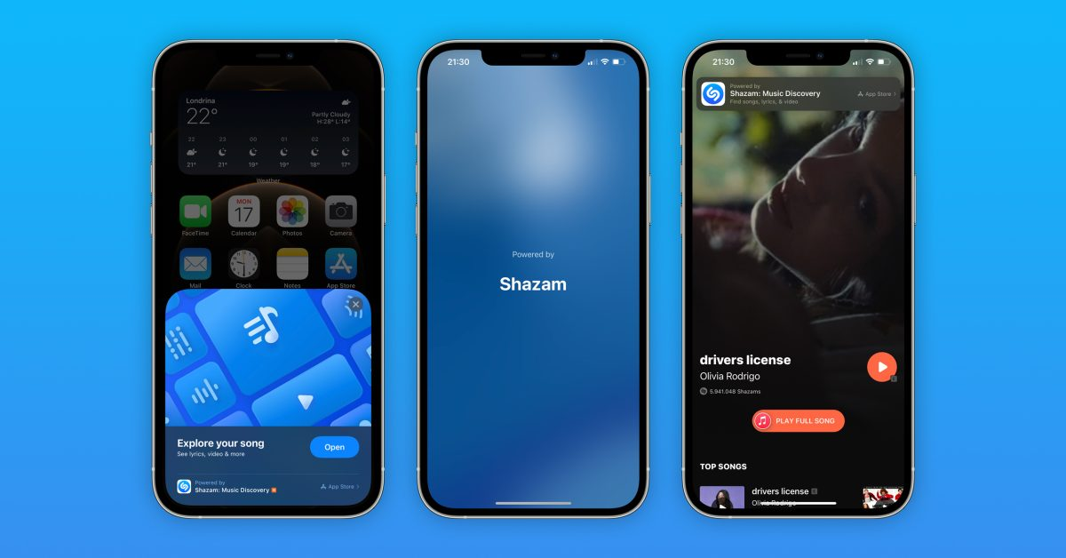 photo of Built-in Shazam music recognition is now an App Clip in iOS 14.6 image