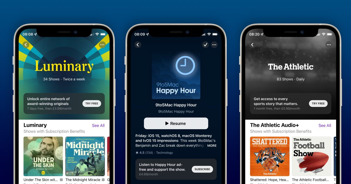 Apple Podcasts Subscriptions and Channels now available - 9to5Mac