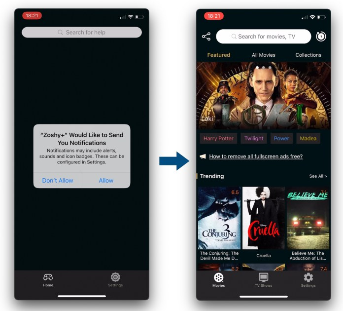 Pirated movies and TV shows app, disguised as Sudoku game, climbs App Store  charts [update: gone] - 9to5Mac
