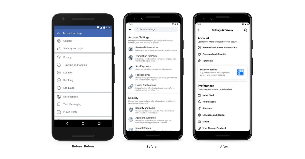 photo of Facebook app gets redesigned settings menu with simplified options image