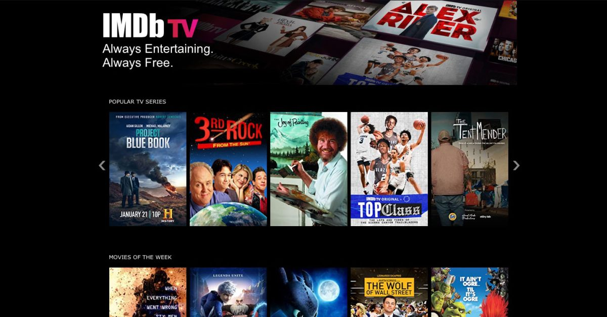 IMDb TV iPhone and iPad apps land; free streaming with ads