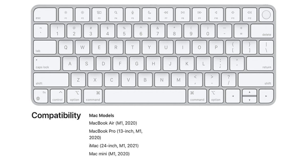 photo of PSA: Magic Keyboard with Touch ID only works with M1 Macs image