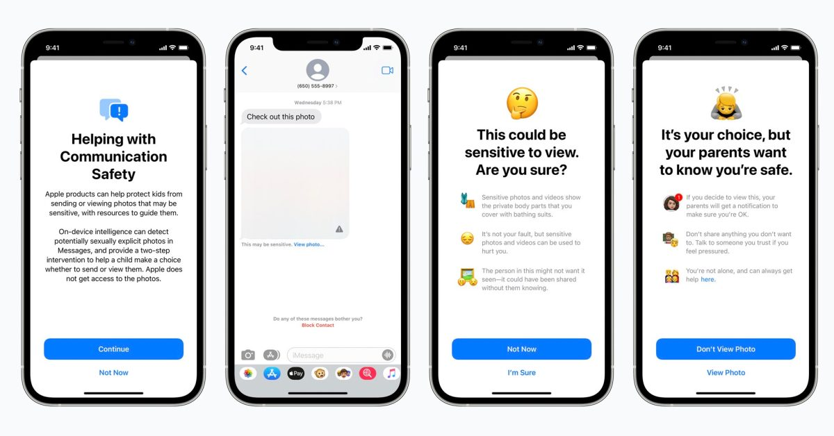 Apple announces new protections for child safety: iMessage features, iCloud Photo scanning, more
