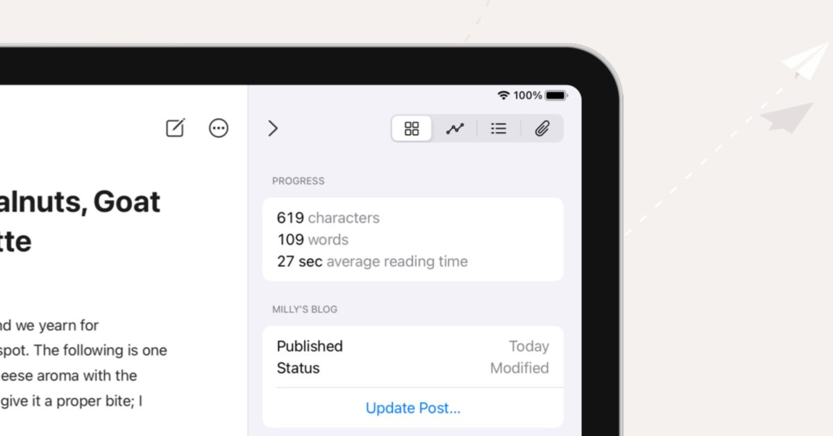 Ulysses overhauls blog posting features, brings a new daily writing goals experience