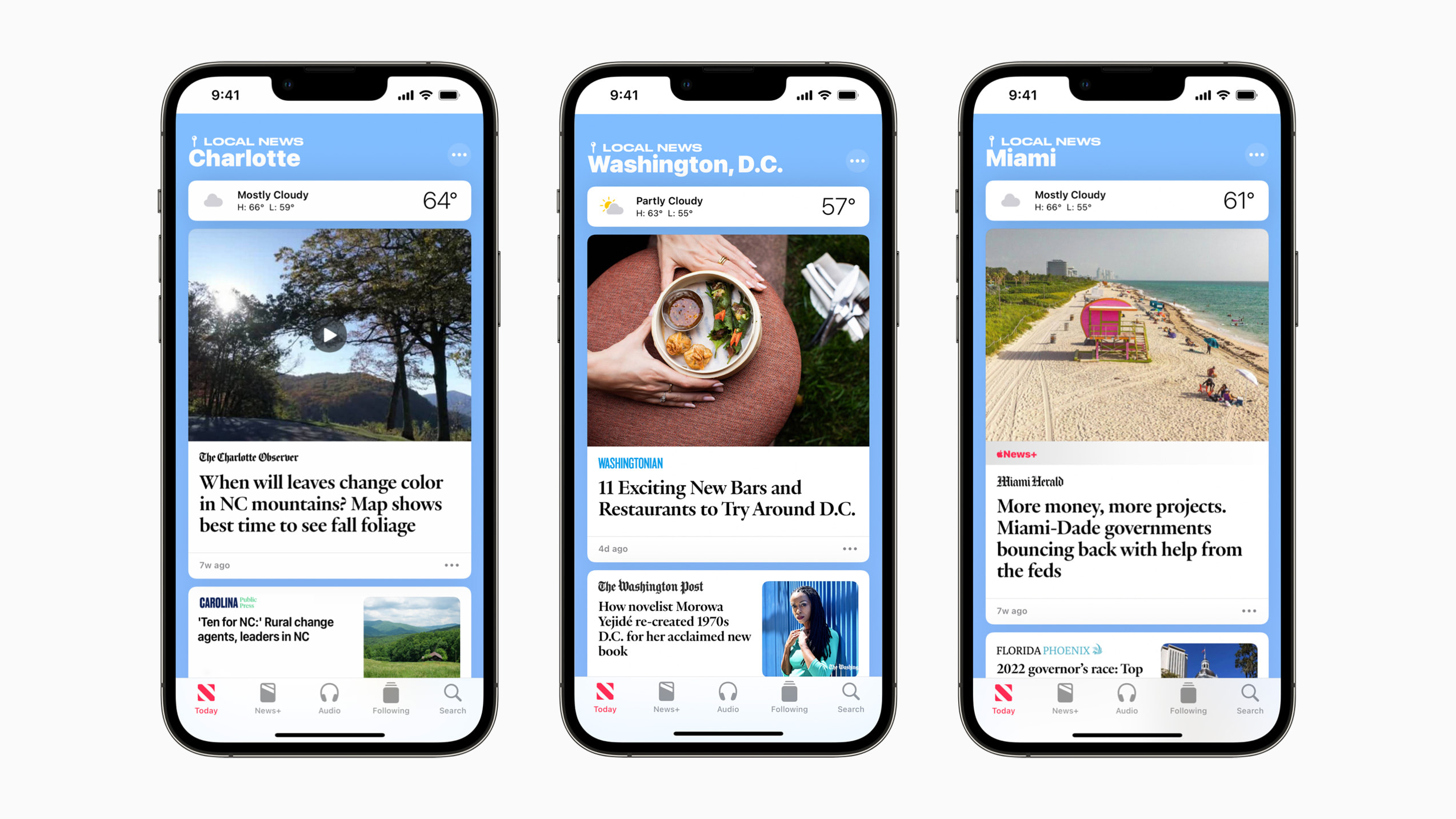 Apple News expands local news coverage to three new cities in the US