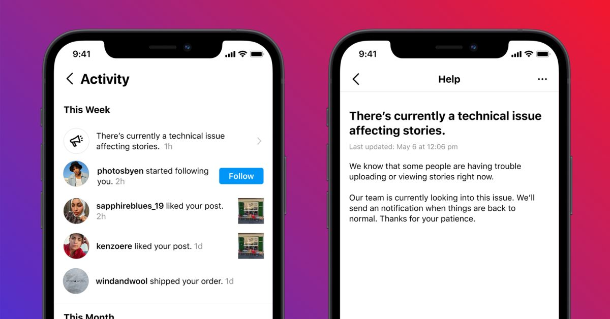 Instagram testing outage alerts following latest incidents with Facebook servers thumbnail