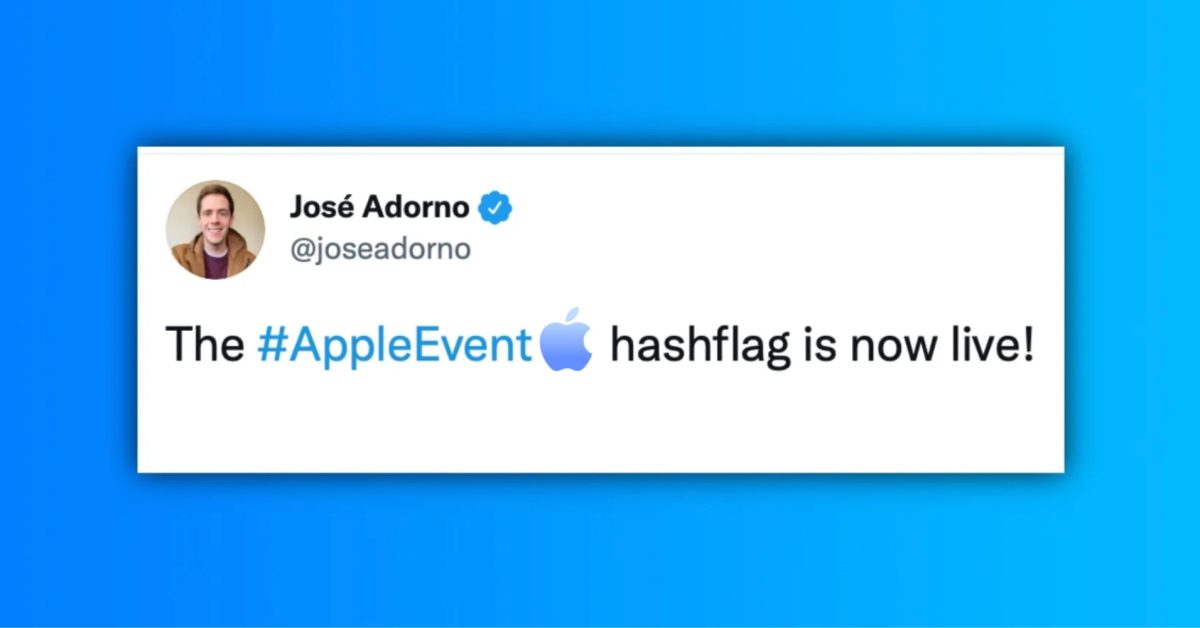 Apple updates #AppleEvent hashflag on Twitter following official announcement thumbnail