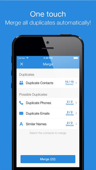 Smart Merge Pro - Duplicate Contacts Cleanup for addressbook, Facebook & Linkedin-iOS-app-sale-free-03