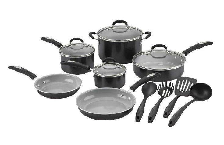 Cuisinart 14-Piece PFOA- and PTFE-Free Ceramic Nonstick Cookware Set-sale-01