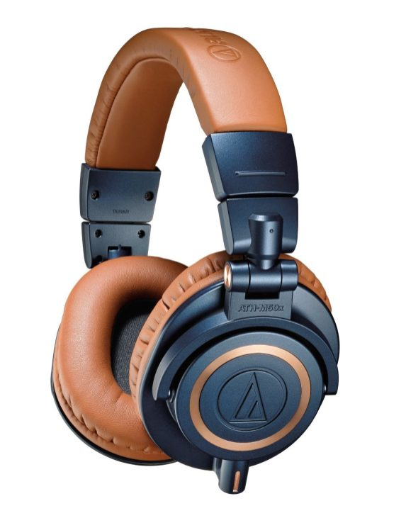 Audio-Technica ATH-M50xBL Blue Professional Limited Edition Headphones-sale