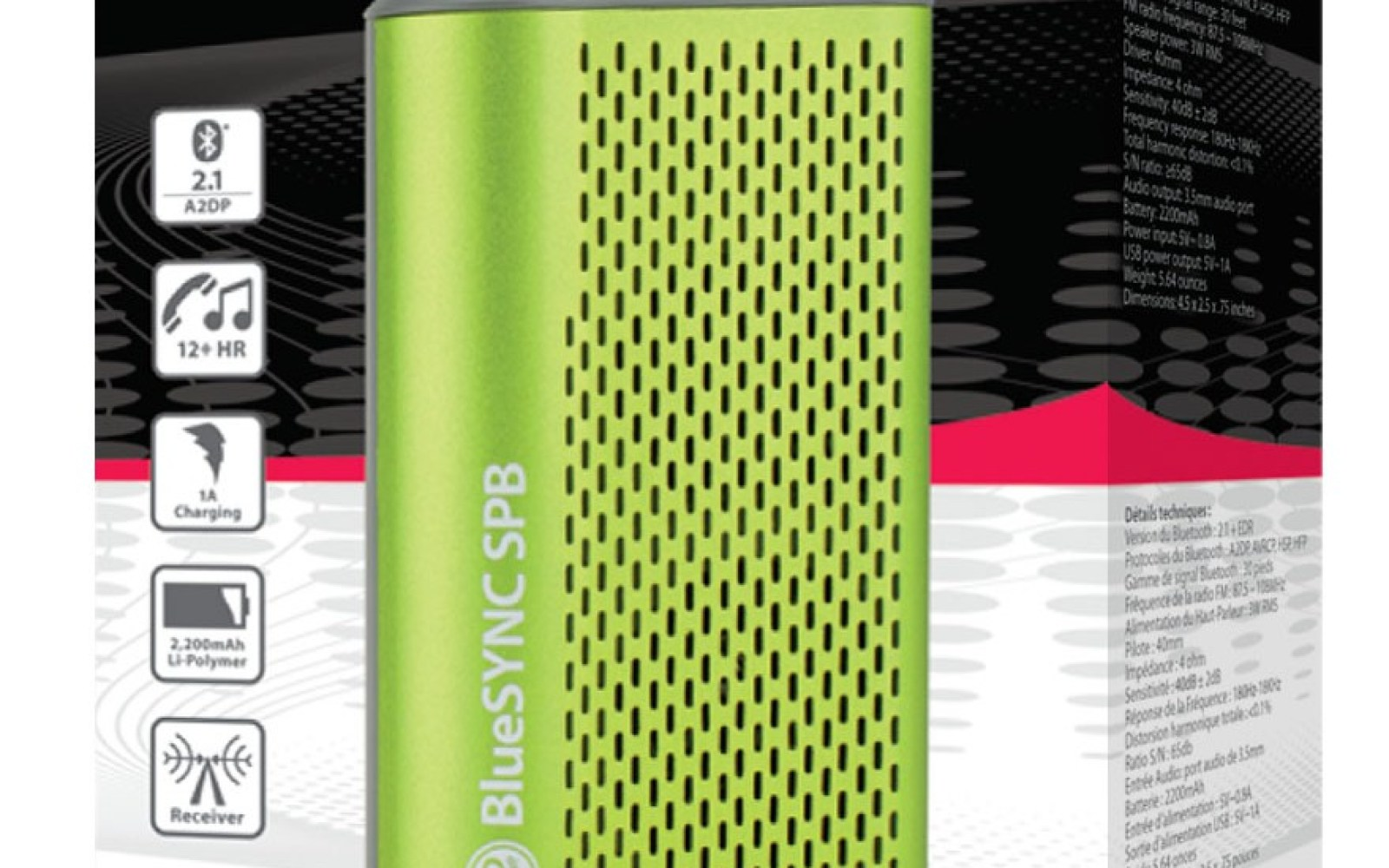 Quick look: The BlueSYNC SPB is an All-in-One Bluetooth speaker w/ FM radio, 2200mAH Powerbank, and more