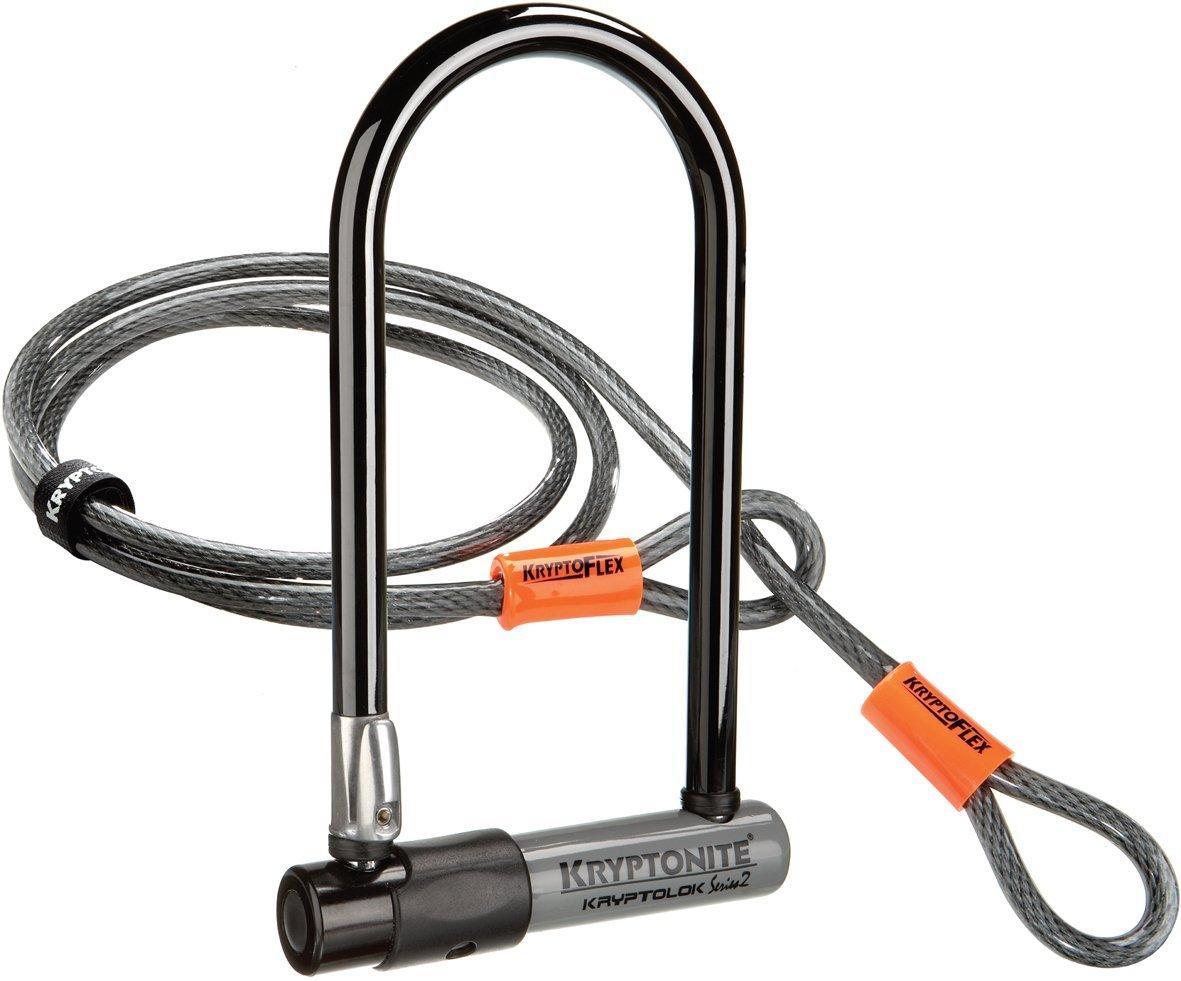Home: Kryptonite Bicycle U-Lock w/ 4-Foot Flex Cable $30
