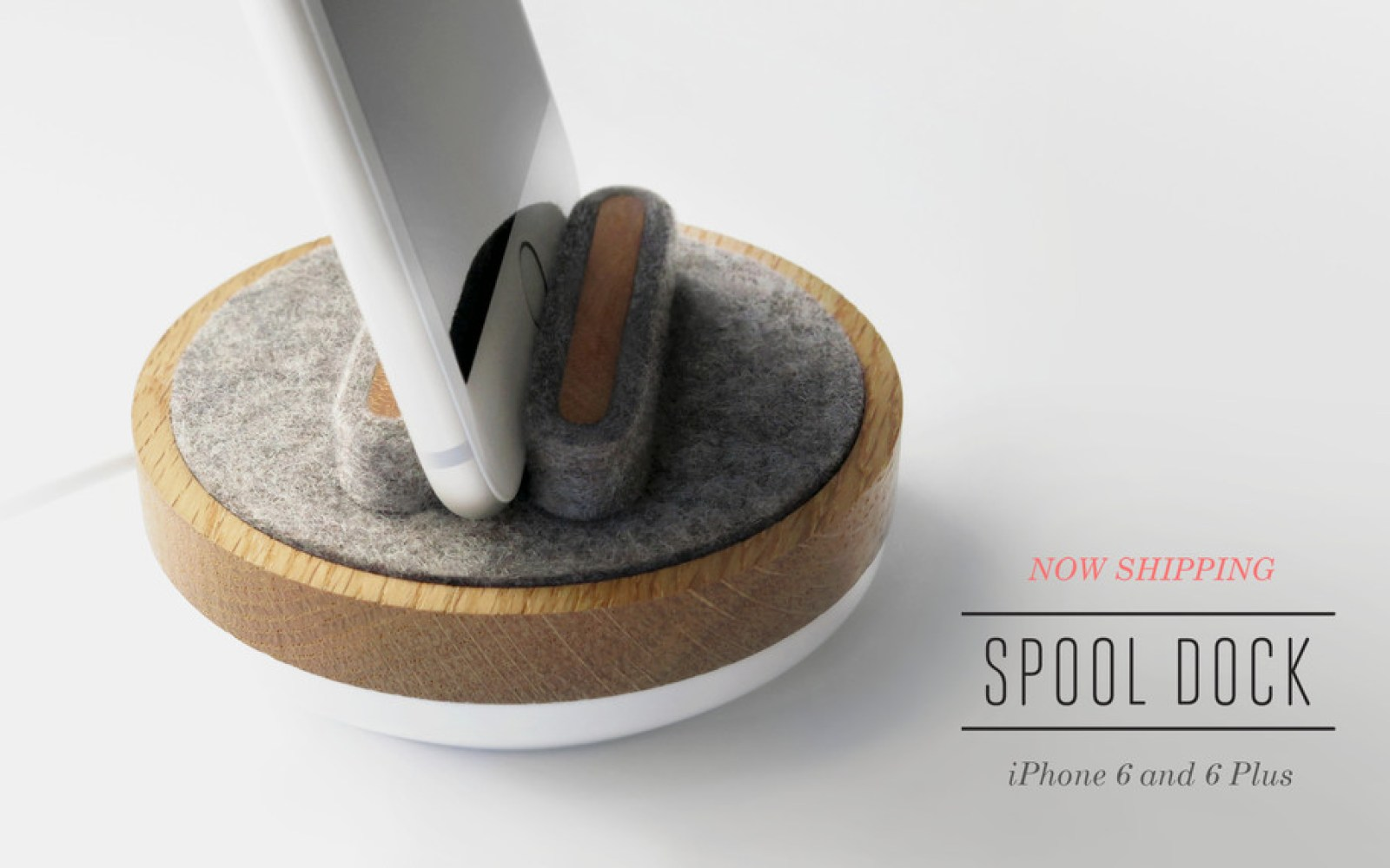 American made iPhone 6/6 Plus Spool Dock from Quell & Co. takes a different approach to its style