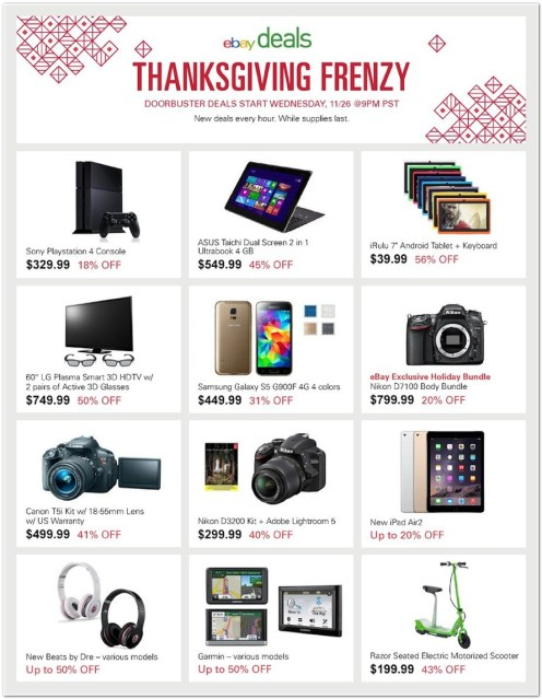 Black Friday ad roundup: eBay Daily Deals will have PS4 for $330, iPhone 6 discounts, iTunes cards 25% off, more