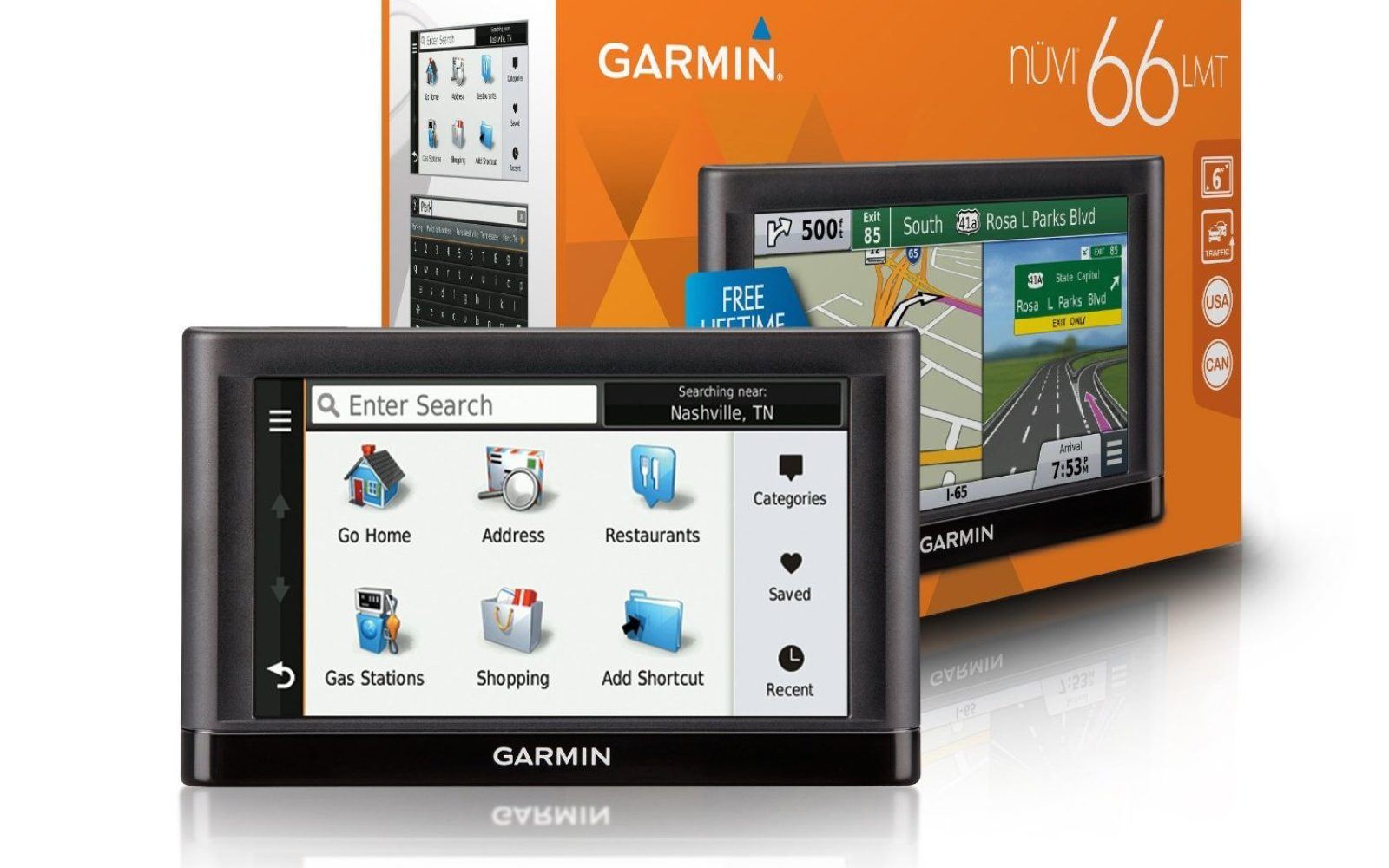 Garmin nüvi 66LMT GPS Navigator System w/ lifetime maps ... on maps for tomtom, maps for blackberry, maps for humminbird, maps for hp, maps for gps,