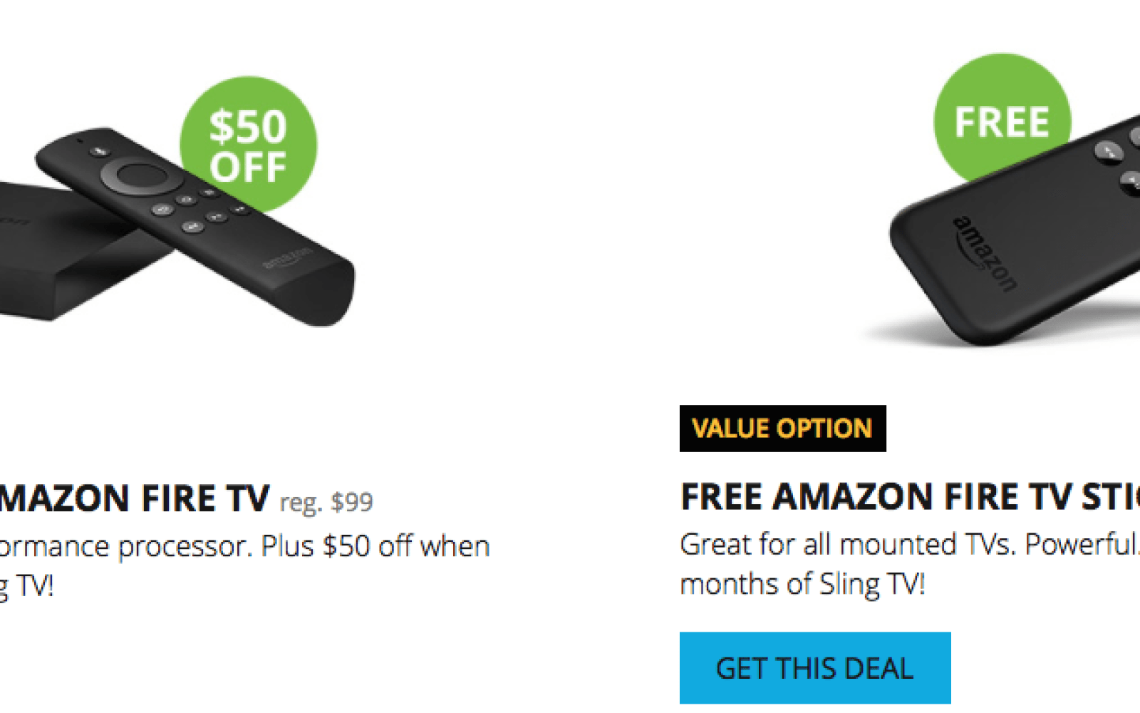 Amazon Fire Tv 9to5toys Ama Zon Plus Get A Free Roku Streaming Stick Or 50 Off 3 When You Sign Up For Sling