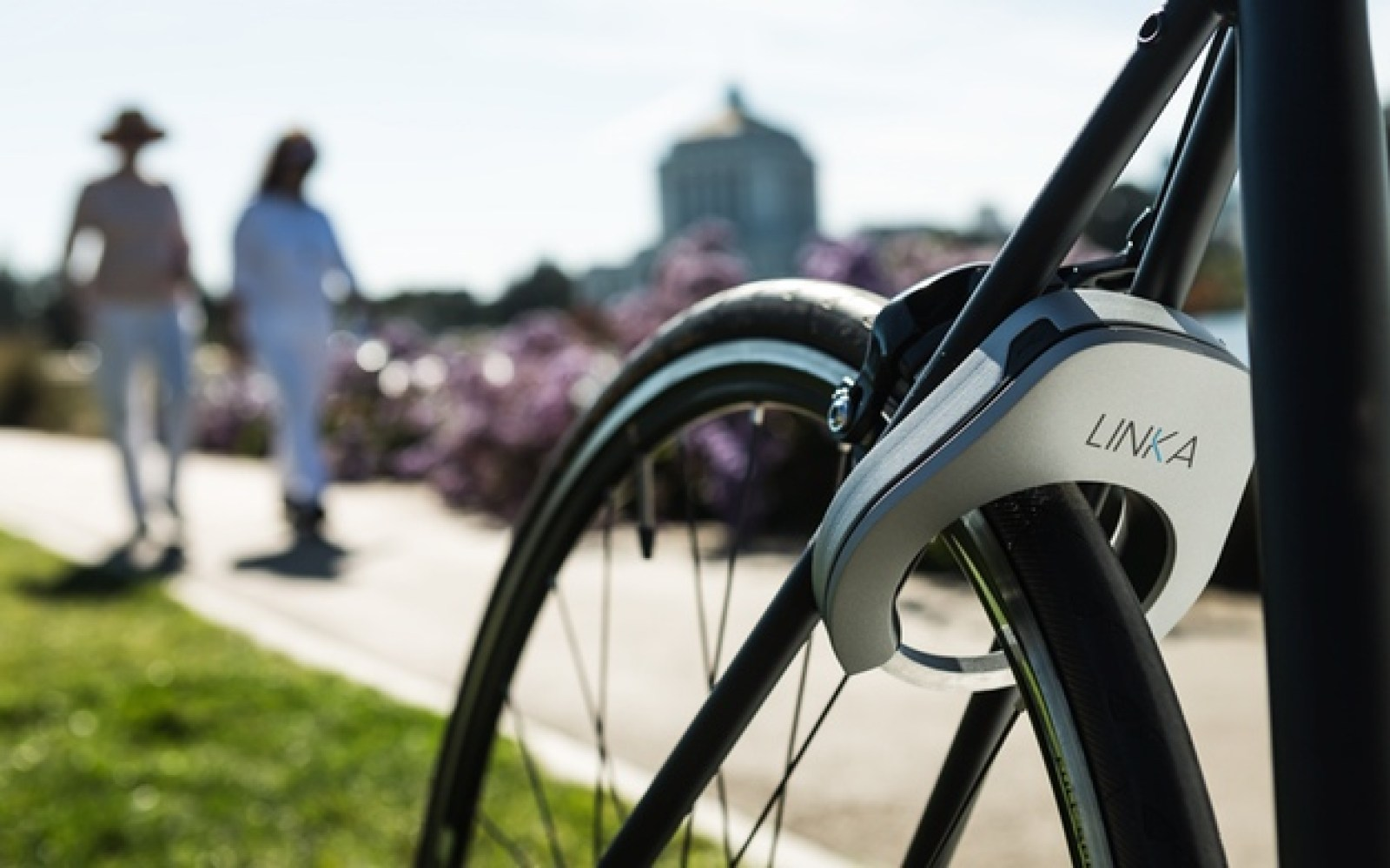 LINKA will keep your bike secure and automatically unlock it when you walk up with your iPhone